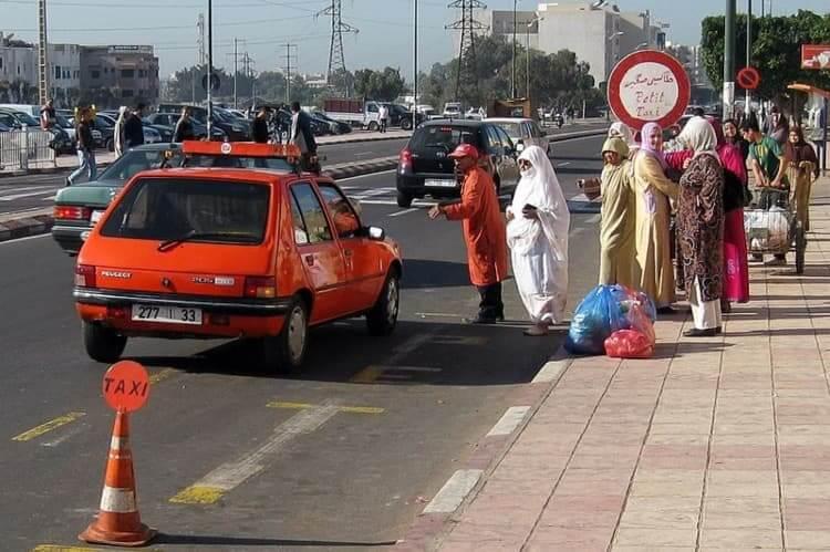 Petit taxi Agadir, Morocco.