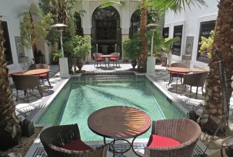 Riad patio, Marrakech