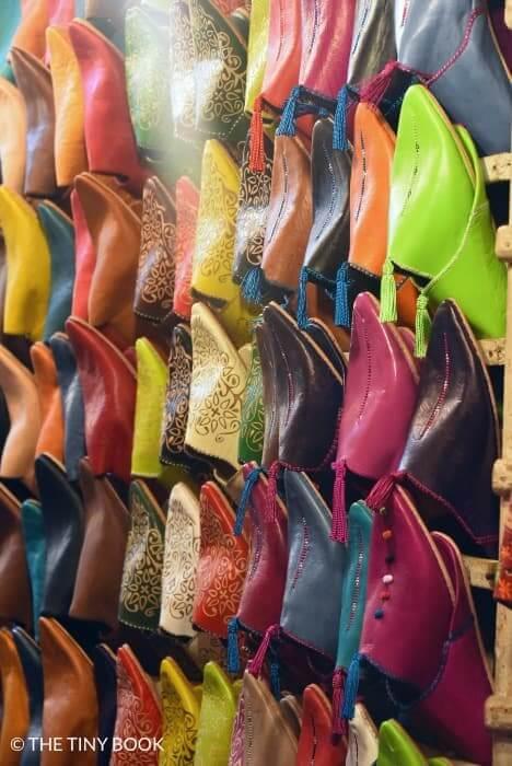 Leather shoes Marrakech souk