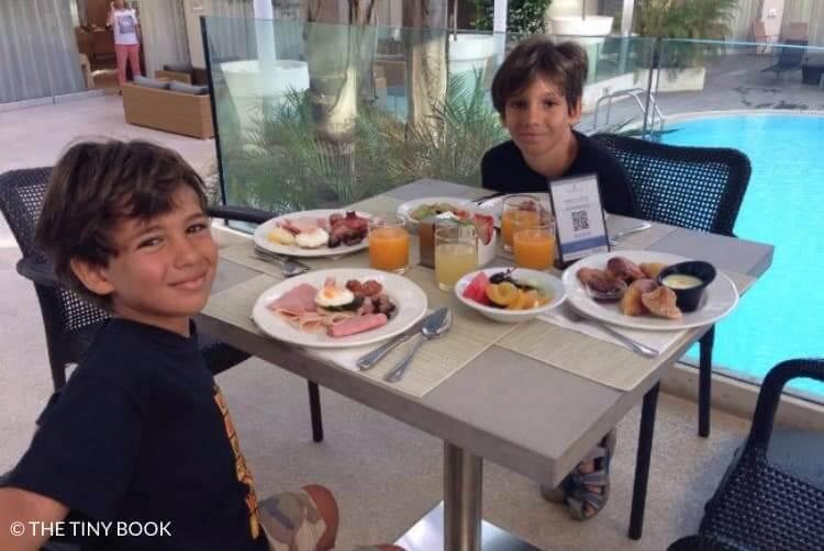 Breakfast for children Galaxy Hotel Iraklio.