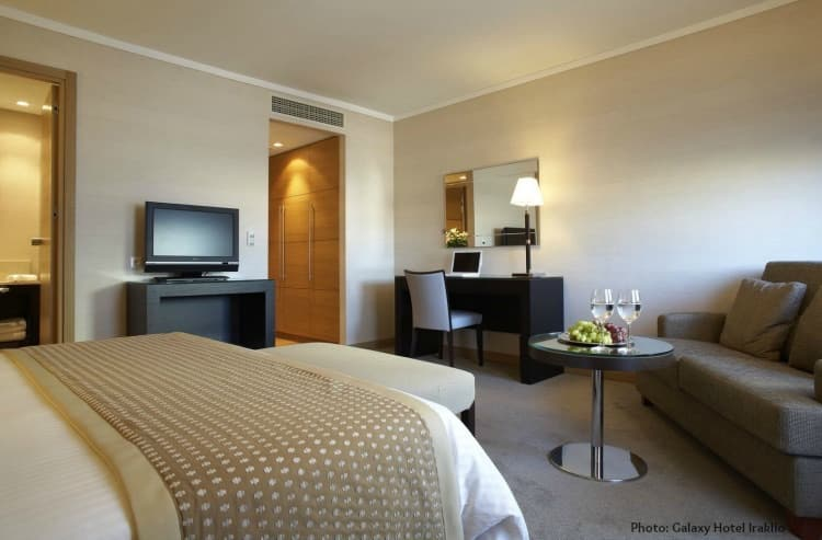 Room for families Galaxy Hotel Iraklio in Crete.