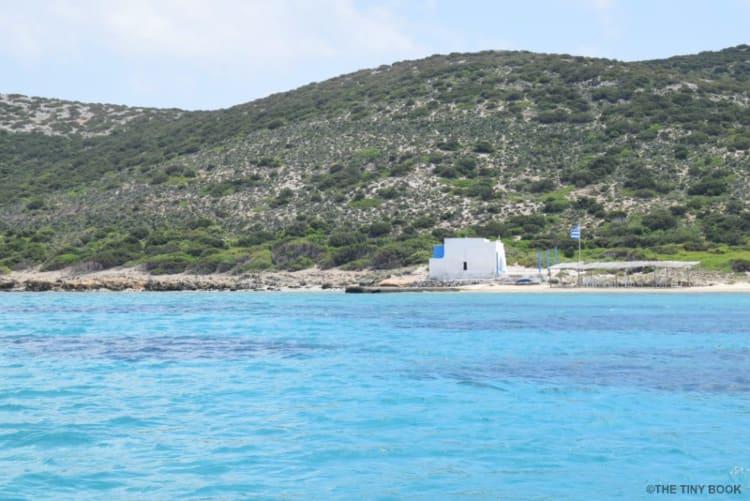 Main beach on Despotiko island. Greece