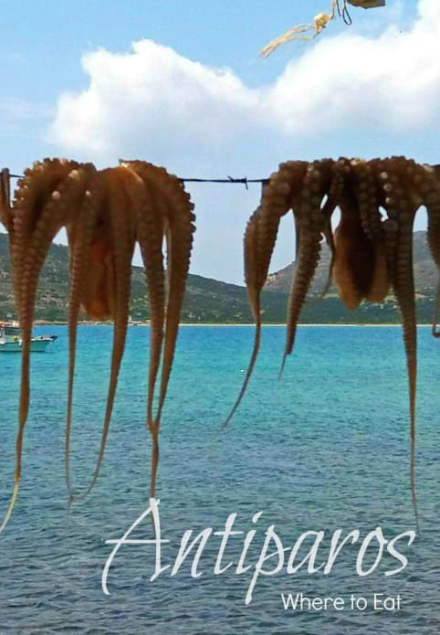 Where to eat in Antiparos -greece - octopus, promotional pin