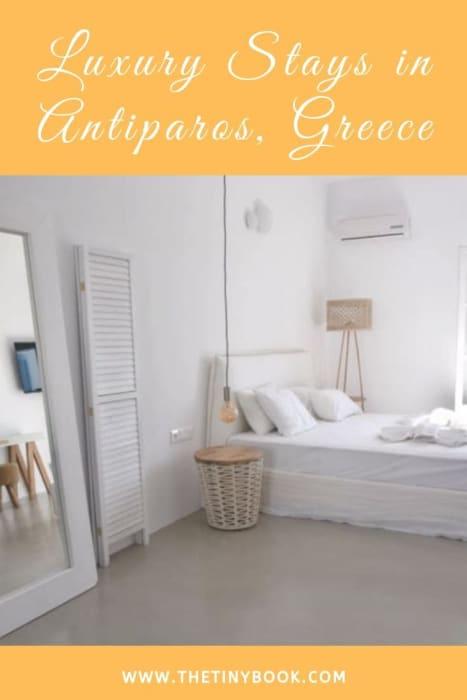 Kouros village Antiparos, Greece - pin poster