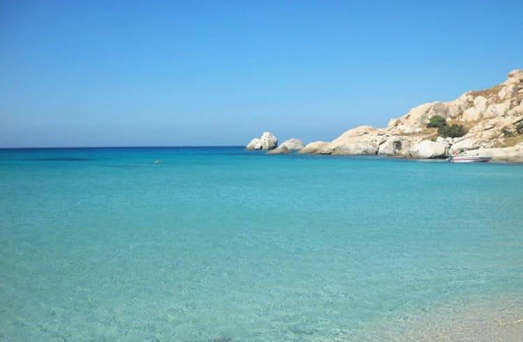 Limanaki beach, Mikri Viglia, Naxos island. Greece