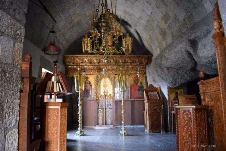 The cave of Saint John the Theologian, Patmos island, Greece.