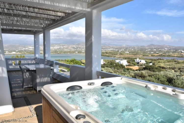 Jacuzzi at the Villas of the Naxian Luxury Collection in Naxos island, Greece