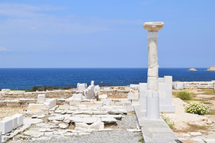 Archaeological site of Despotiko island, Cyclades, Greece.