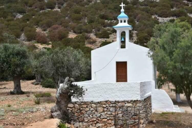 Church of Agios Konstantinos, Platis Gialos Beach. - Lipsi Island, Dodecanese