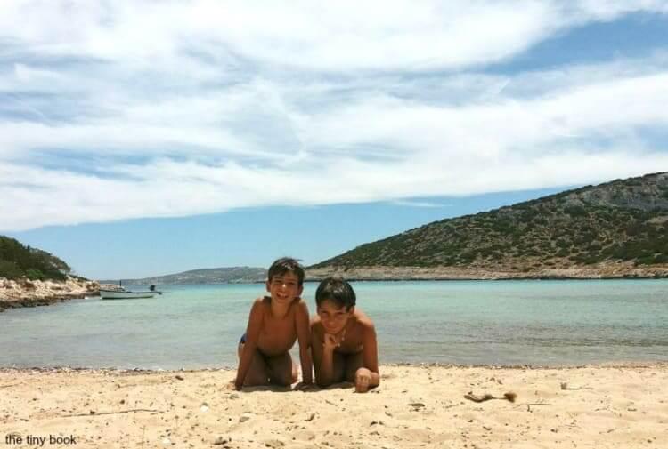 Lipsi: Platis gialos beach