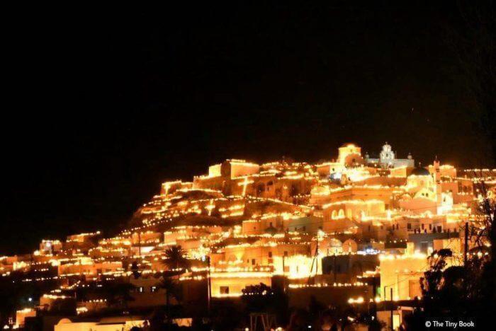 How Greeks celebrate Easter, Pyrgos Santorni on Easter