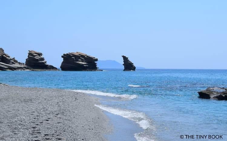 Triopetra beach, Crete island.