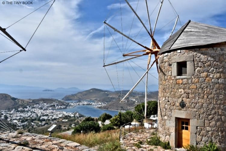 Skala and Windmils in Patmos, Greece