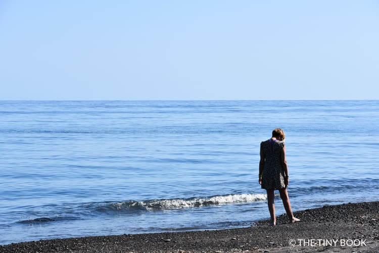 Black beach, Perissa, Santorini.
