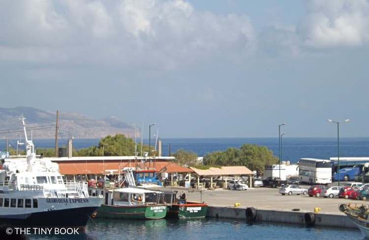 Kavonisi port in Kissamos, Crete.