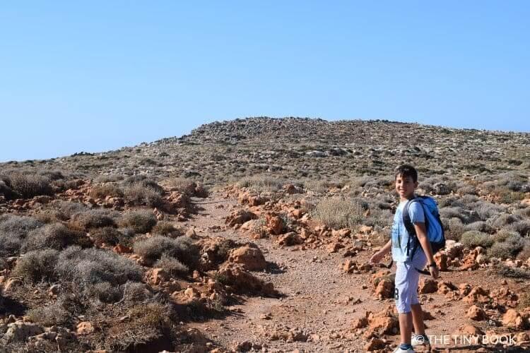 Kid walking to Balos