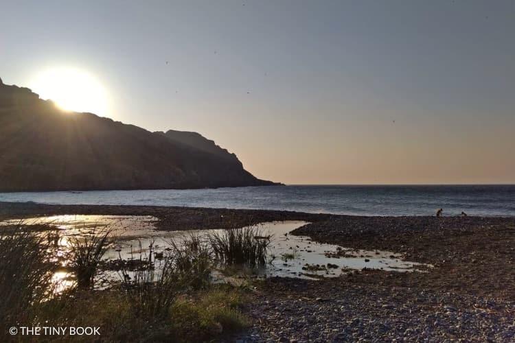 Sifnari beach in Crete at sunset