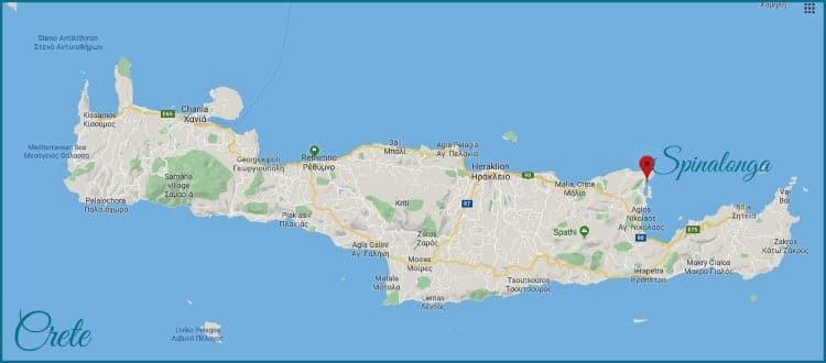 Crete, Spinalonga. Map data © 2019 Google