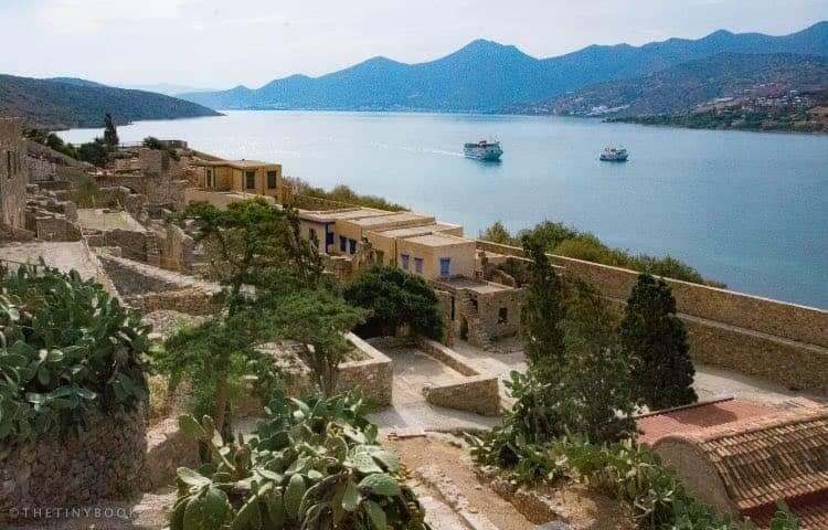Boats on the way to Spinalonga, Crete.