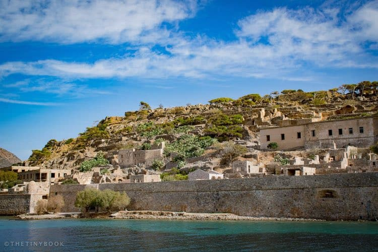 The beach of Spinalonga, close to the second entrance to the island.